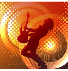 Rock music vector image