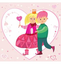 The Valentine's day card vector image
