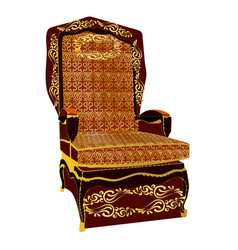 throne vector image