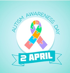 2 April Autism awareness day vector image vector image