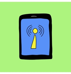 Doodle style with wi-fi sign vector image