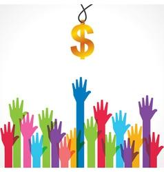 Everyone wants money concept vector image
