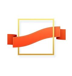 Frame isolated on white Festive border vector image