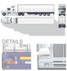 hi-detailed commercial semi-truck vector image