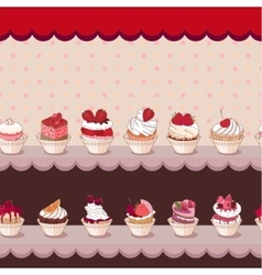 Seamless horizontal pattern with different kinds vector image