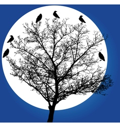 tree with crows vector image