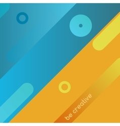 Yellow and blue background vector image vector image