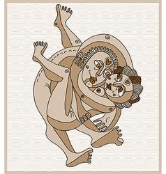 hand drawn stripy of heterosexual couple mak vector image
