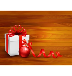 Holiday background with gift box vector image