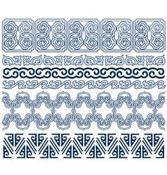 oriental border vector image vector image