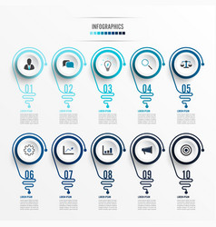 Abstract infographic with light bulb infographics vector