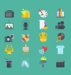 Artistic creator graphic designer icons set vector