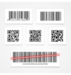Barcode Tag or Sticker Set vector image