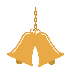 Bells sound school tool traditional image vector