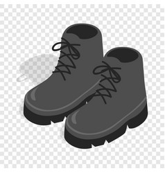black boots isometric icon vector image