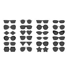 black sunglasses silhouette modern stylish vector image