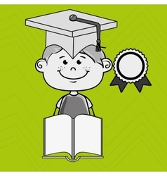 boy student book cap vector image