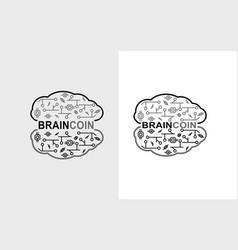 Braincoin - new crypto coin 2018 vector