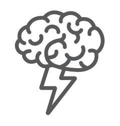 Brainstorm line icon business and idea creative vector