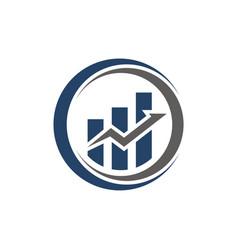 business finance logo template icon design vector image
