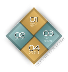 Business four squares with text vector