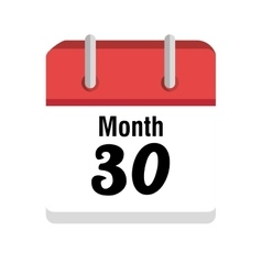 Calendar with day and month icon vector