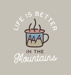 Camping adventure logo emblem design vector