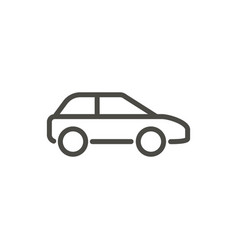 car icon line drawing symbol vector image