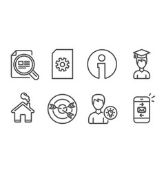 check article person idea and student icons vector image