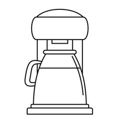 Classic coffee machine icon outline style vector