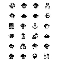 Cloud Computing Icons 3 vector image