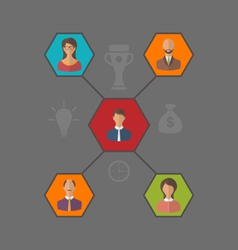 concept of leadership and team business people vector image