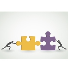 Connecting puzzle pieces vector image