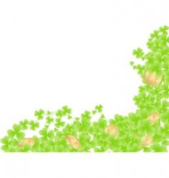 corner shamrock background vector image
