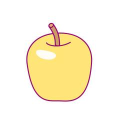 Cute drawn fruit clipart vector