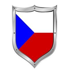Czech Republic flag button vector image
