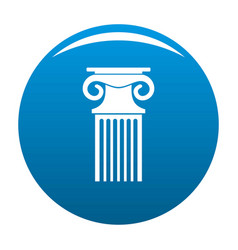 Decorative column icon blue vector