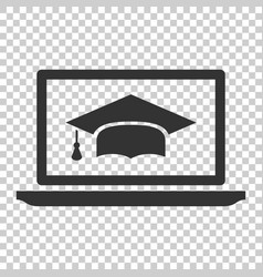 elearning education icon in flat style study on vector image