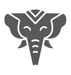 elephant glyph icon zoo and wildlife african vector image