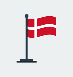 flag of denmarkflag stand vector image