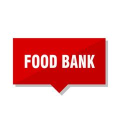 food bank red tag vector image