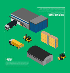 freight transportation isometric concept vector image