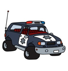Funny big police car vector