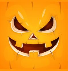 funny cute crazy pumpkin character halloween vector image