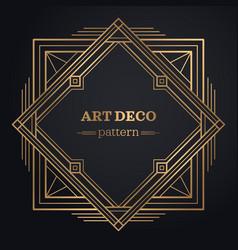 gatsby art deco background vector image