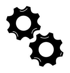 gears machinery isolated icon vector image