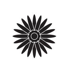 gerbera black concept icon gerbera flat vector image