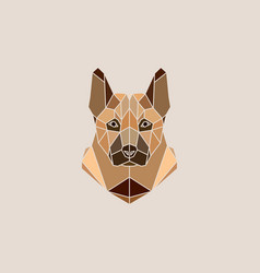German shepherd dog portrait vector