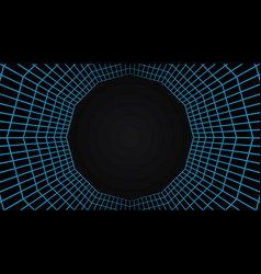 Grid tunnel mesh 3d abstract background vector