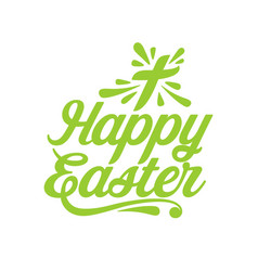 happy easter lettering and graphic vector image